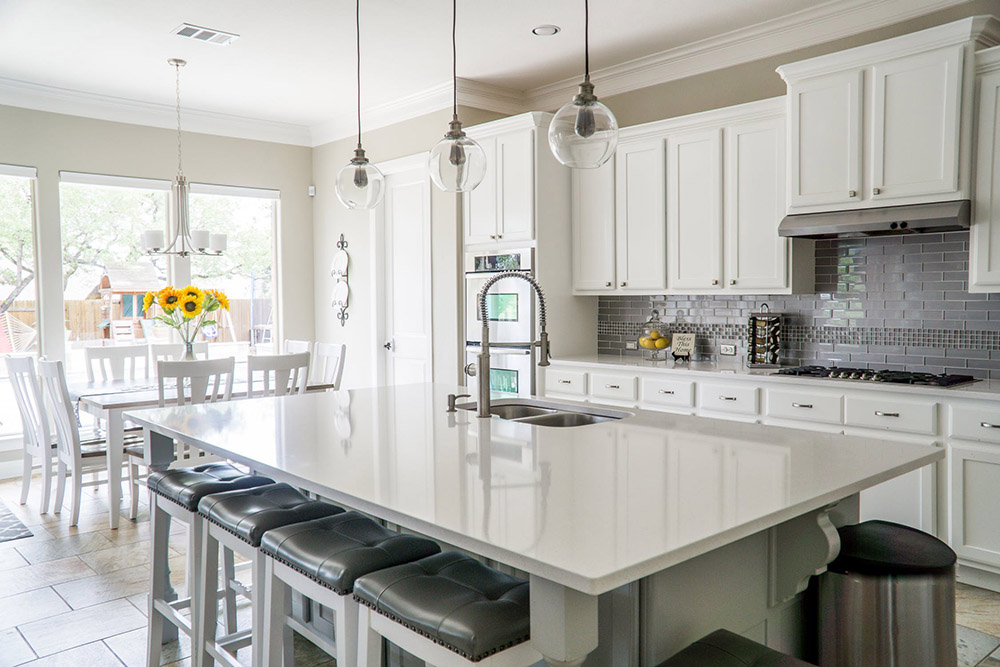 beautiful white kitchen remodeling in West Chester, PA